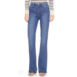 "Madewell ""flea market flare"" high waisted jeans"